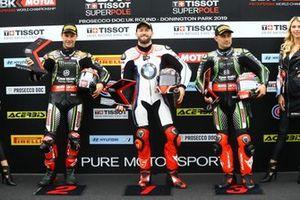 Jonathan Rea, Kawasaki Racing Team, Tom Sykes, BMW Motorrad WorldSBK Team, Leon Haslam, Kawasaki Racing Team