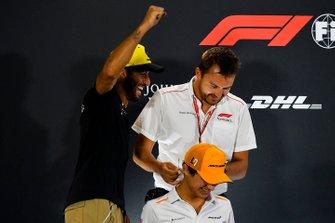 Daniel Ricciardo, Renault F1 Team en Lando Norris, McLaren