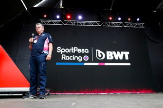 Otmar Szafnauer, Team Principal and CEO, Racing Point, on stage