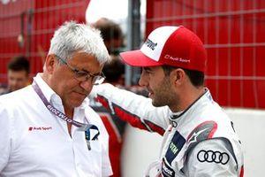Ernst Moser, Audi Sport Sport Team Phoenix y Mike Rockenfeller, Audi Sport Team Phoenix