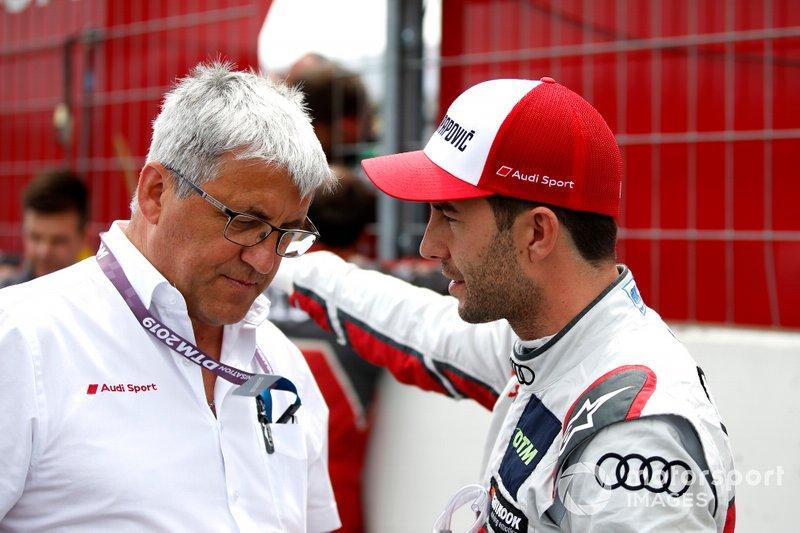 Ernst Moser, Audi Sport Sport Team Phoenix and Mike Rockenfeller, Audi Sport Team Phoenix
