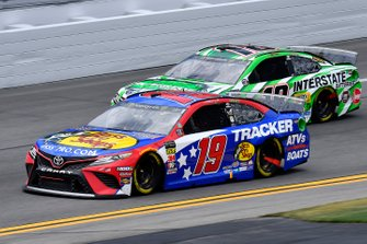 Martin Truex Jr., Joe Gibbs Racing, Toyota Camry Bass Pro Shops / TRACKER ATVs & Boats / USO and Kyle Busch, Joe Gibbs Racing, Toyota Camry Interstate Batteries