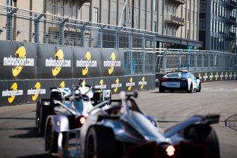 BMW i8 Safety car Alexander Sims, BMW I Andretti Motorsports, BMW iFE.18, Sébastien Buemi, Nissan e.Dams, Nissan IMO1, Robin Frijns, Envision Virgin Racing, Audi e-tron FE05
