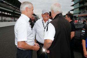 Bud Denker, Rick Hendrick and Roger Penske
