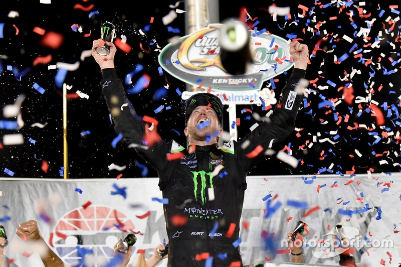 Race Winner Kurt Busch, Chip Ganassi Racing, Chevrolet Camaro Monster Energy