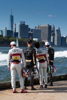 Daniel Abt, Audi Sport ABT Schaeffler, Andre Lotterer, DS TECHEETAH, Lucas Di Grassi, Audi Sport ABT Schaeffler, Jean-Eric Vergne, DS TECHEETAH