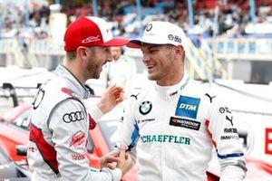 Pole sitter Marco Wittmann, BMW Team RMG with René Rast, Audi Sport Team Rosberg