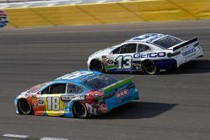 Kyle Busch, Joe Gibbs Racing, Toyota Camry M&M's Hazelnut, Ty Dillon, Germain Racing, Chevrolet Camaro GEICO