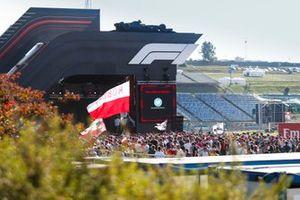 Palco nella Fan Zone del GP di Ungheria
