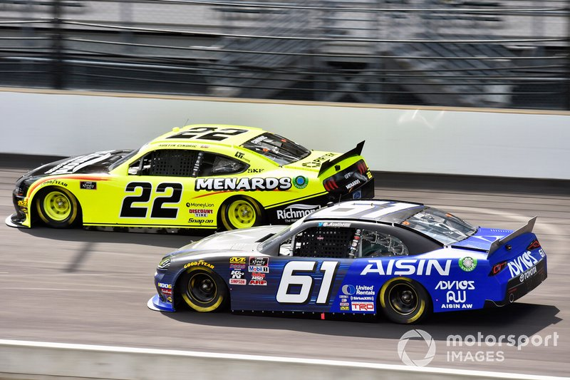 Austin Cindric, Team Penske, Ford Mustang Menards/Richmond and Austin Hill, Motorsports Business Management, Toyota Supra Aisin Group