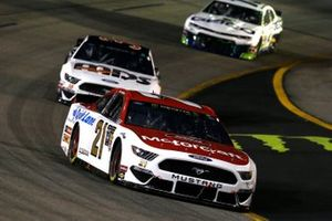 Paul Menard, Wood Brothers Racing, Ford Mustang Motorcraft / Quick Lane Tire & Auto Center, David Ragan, Front Row Motorsports, Ford Mustang MDS Trucking