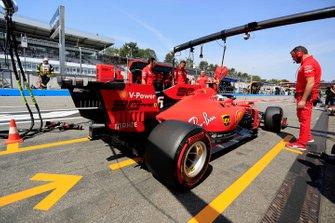 Charles Leclerc, Ferrari SF90, in the pit lane