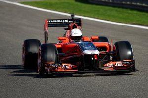 Une Marussia F1 lors d'un run de démonstration