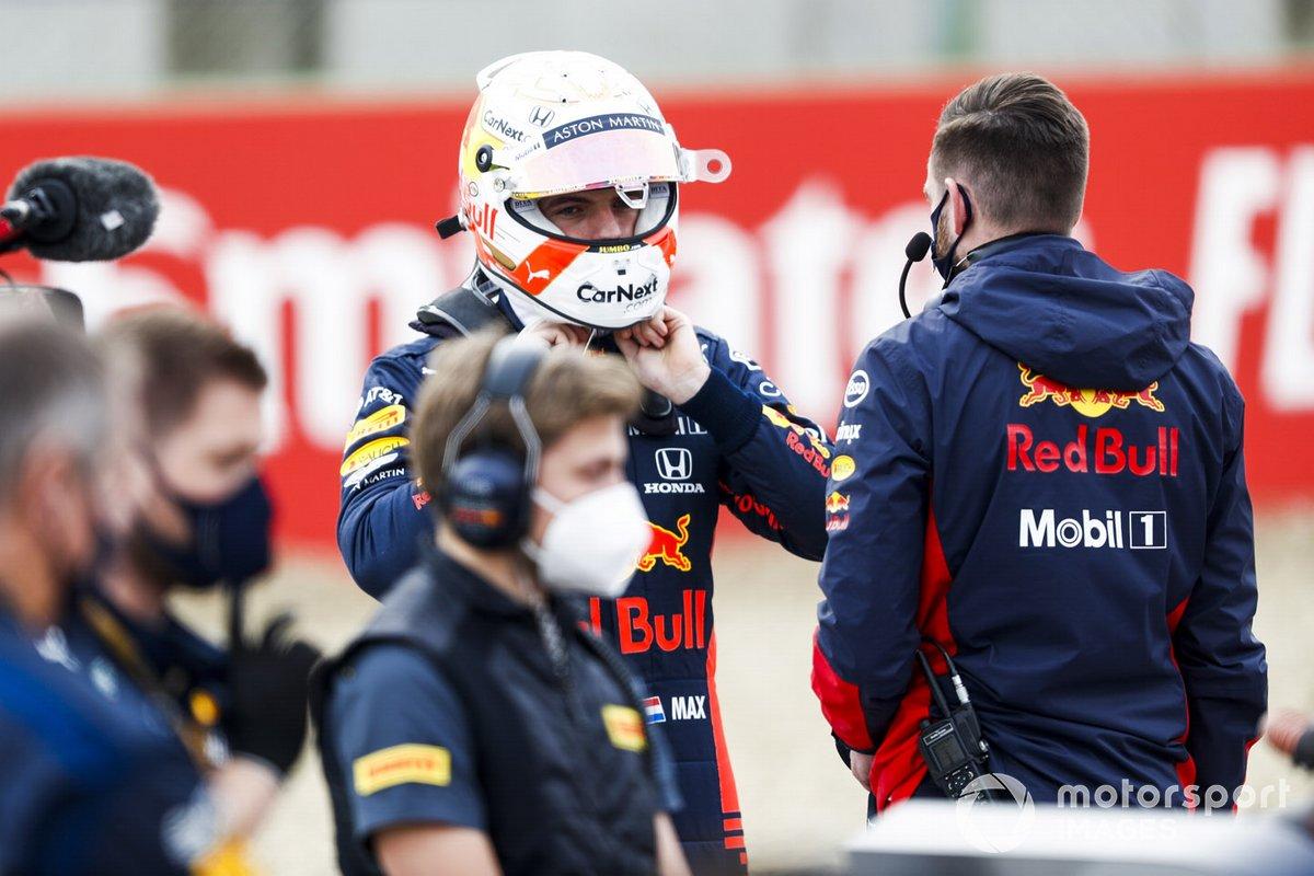 Max Verstappen, Red Bull Racing, sulla griglia di partenza
