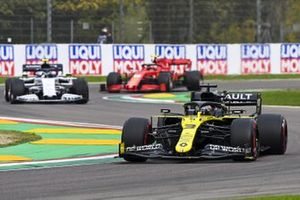 Daniel Ricciardo, Renault F1 Team R.S.20, Pierre Gasly, AlphaTauri AT01, and Charles Leclerc, Ferrari SF1000