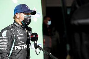 Valtteri Bottas, Mercedes-AMG F1, is interviewed after Qualifying