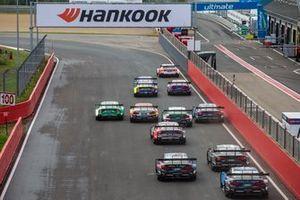 Start action. René Rast, Audi Sport Team Rosberg, Audi RS 5 DTM leads