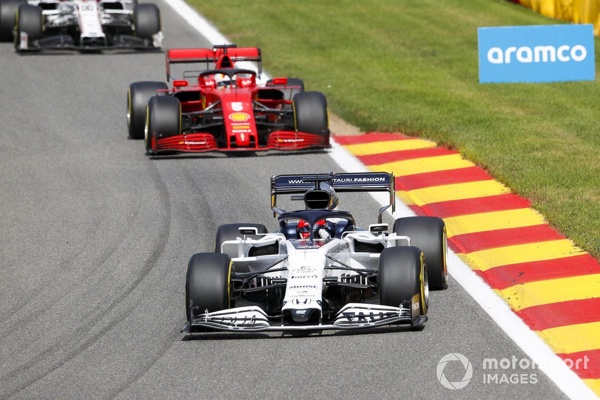 Daniil Kvyat, AlphaTauri AT01, Sebastian Vettel, Ferrari SF1000