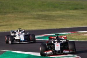 Romain Grosjean, Haas VF-20, George Russell, Williams FW43
