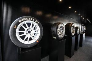 Lo stand della Pirelli