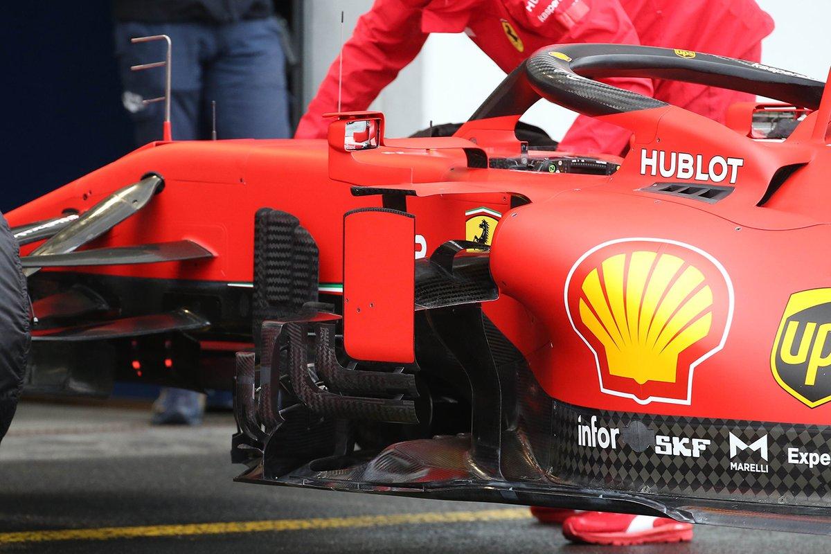 Detalle de los bargeboards nuevos del Ferrari SF1000
