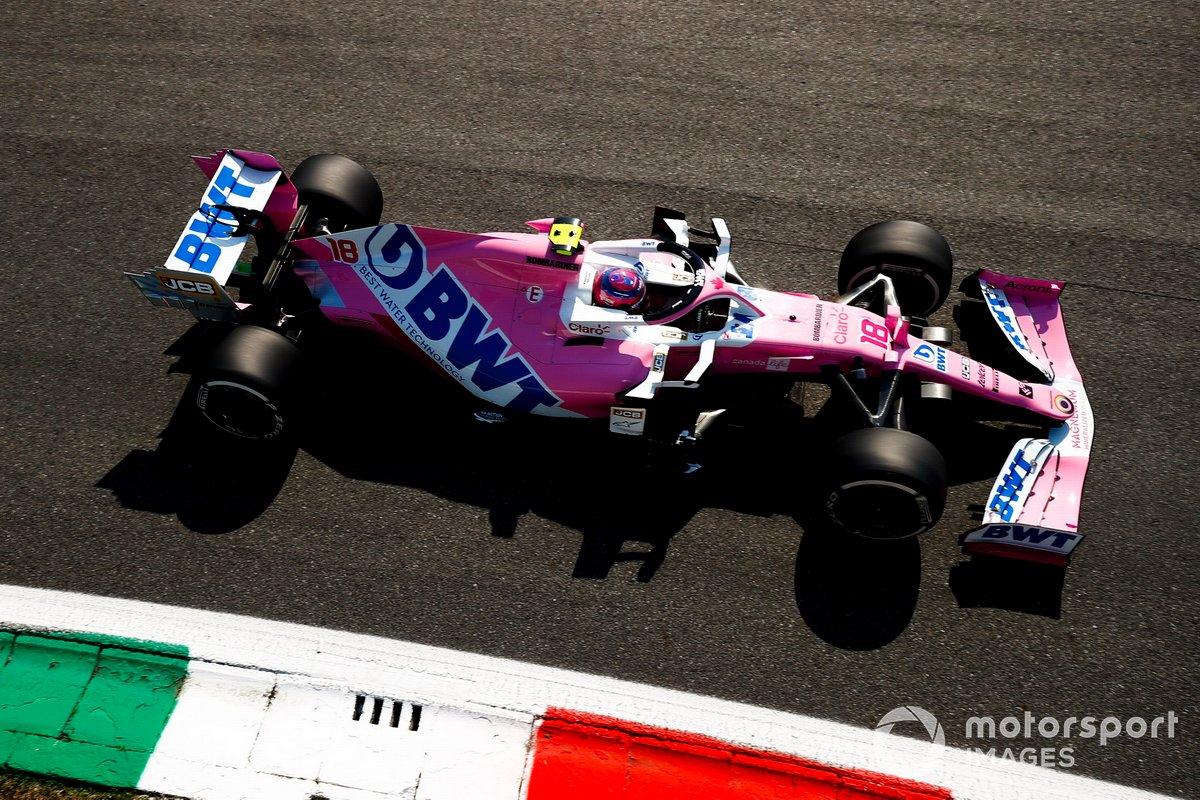 Para 2020, misma historia con Racing Point: el RP20 ahora tiene a BWT como patrocinador principal (sin SportPesa) y el rosa sigue dominando