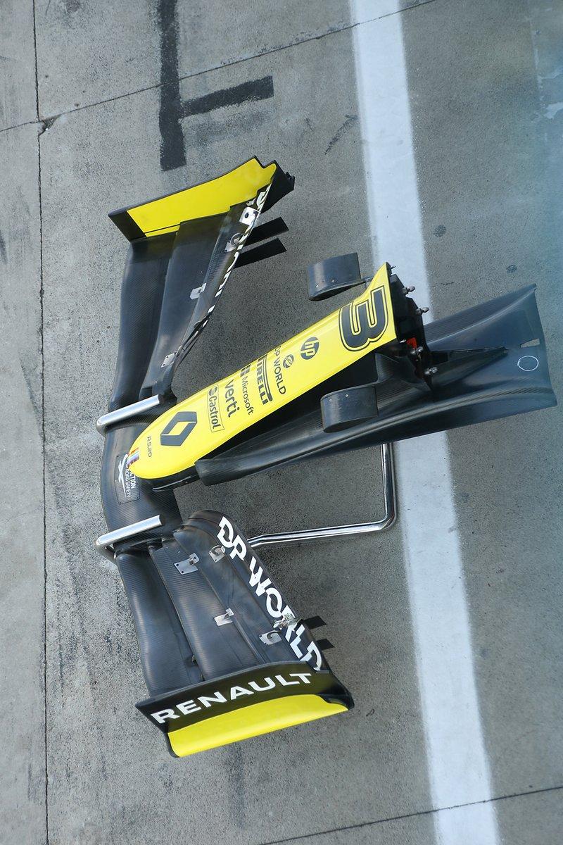 El alerón delantero del Renault F1 Team R.S.20