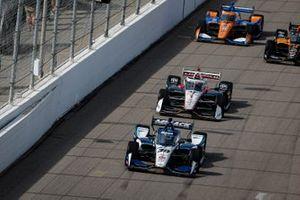 Start zu Rennen 2 beim Bommarito Automotive Group 500 im Gateway Motorsports Park in St. Louis: Takuma Sato, Rahal Letterman Lanigan Racing Honda, führt