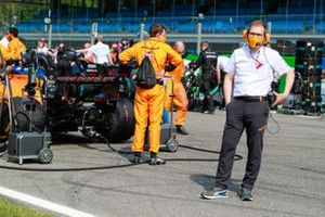 Andreas Seidl, Team Principal, McLaren, on the grid