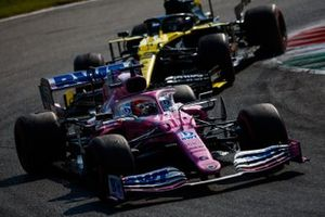Sergio Perez, Racing Point RP20, Daniel Ricciardo, Renault F1 Team R.S.20