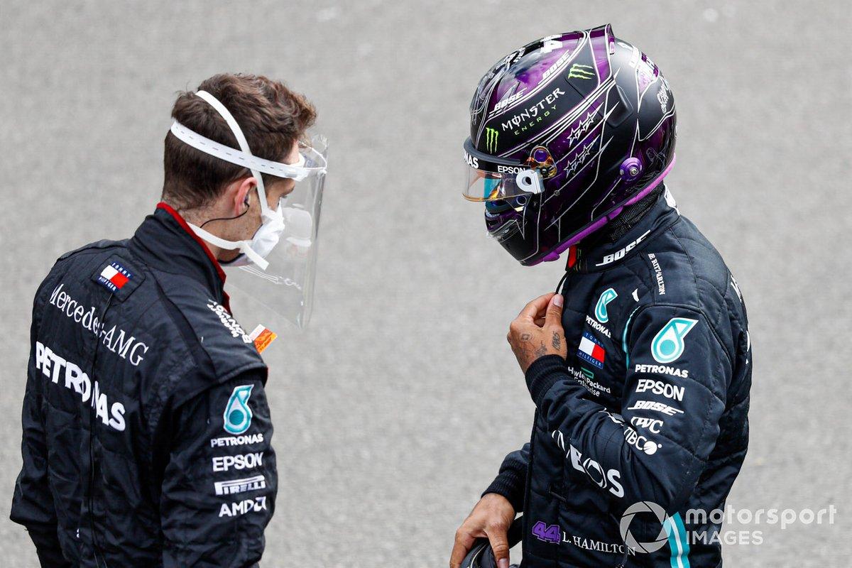 Lewis Hamilton, Mercedes-AMG F1, on the grid