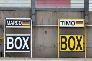 Pit board of Marco Wittmann, BMW Team RMG and Timo Glock, BMW Team RMG