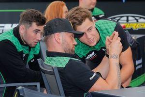 Mathys Boisrame, Marc de Reuver en Roan van de Moosdijk, F&H Kawasaki MX2 Racing Team