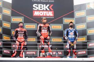 Scott Redding, Aruba.it Racing Ducati, Chaz Davies, ARUBA.IT Racing Ducati, Toprak Razgatlioglu, Pata Yamaha