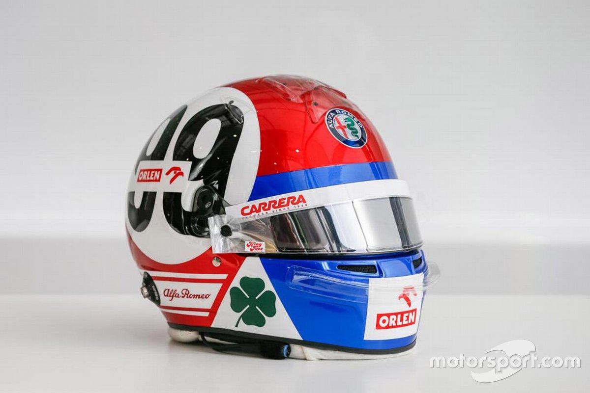 Il casco di Antonio Giovinazzi, Alfa Romeo