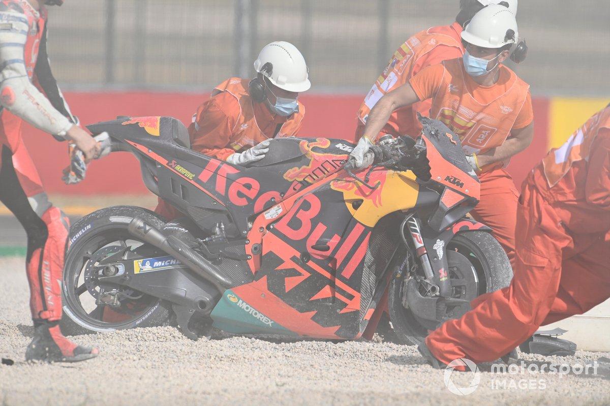 Caída de Brad Binder, Red Bull KTM Factory Racing