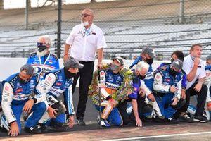 1. Takuma Sato, Rahal Letterman Lanigan Racing Honda, mit Bobby Rahal