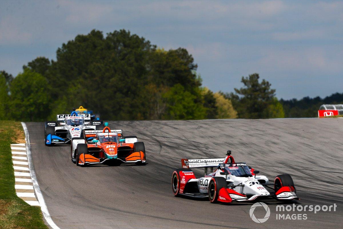 Takuma Sato, Rahal Letterman Lanigan Racing Honda, James Hinchcliffe, Andretti Steinbrenner Autosport Honda