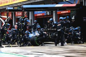 Fernando Alonso, Alpine A521 , in the pits