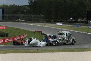 Damaged car of Josef Newgarden, Team Penske Chevrolet