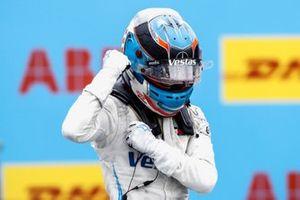 Race Winner Nyck de Vries, Mercedes-Benz EQ, EQ Silver Arrow 02 celebrates in Parc Ferme