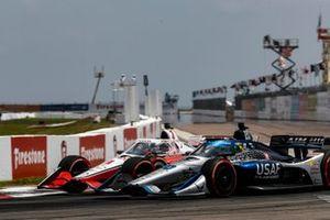 Scott McLaughlin, Team Penske Chevrolet, Conor Daly, Ed Carpenter Racing Chevrolet