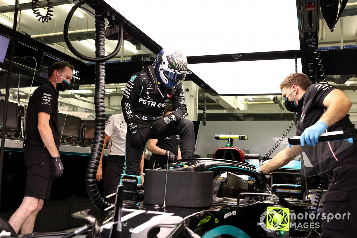 Valtteri Bottas, Mercedes-AMG F1 in garage