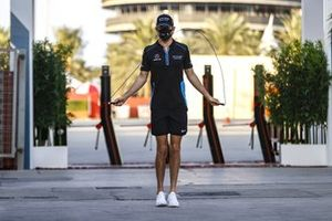 Nicholas Latifi, Williams Racing, skipping in the paddock