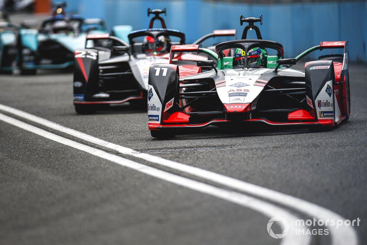Lucas Di Grassi, Audi Sport ABT Schaeffler, Audi e-tron FE07, Sebastien Buemi, Nissan e.dams, Nissan IMO2