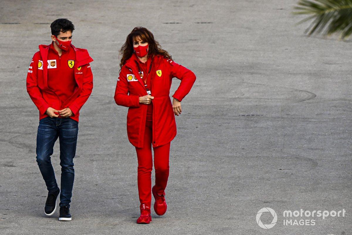 Charles Leclerc, Ferrari nel paddock