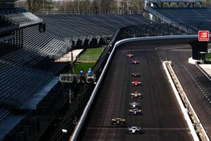 Graham Rahal, Rahal Letterman Lanigan Racing Honda, Colton Herta, Andretti Autosport Honda, Alexander Rossi, Andretti Autosport Honda, Josef Newgarden, Team Penske Chevrolet