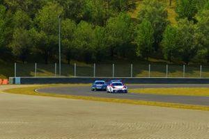 Azione in pista durante gara 1