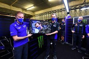 Lin Jarvis all'evento di addio Yamaha Factory Racing