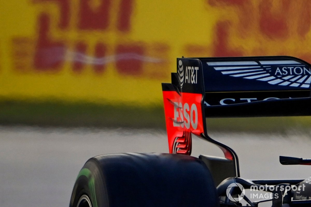 Red Bull Racing RB16 rear wing detail